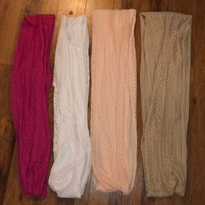 Accessories - 🦋 LOT 🦋 4 Lace Infinity Scarves
